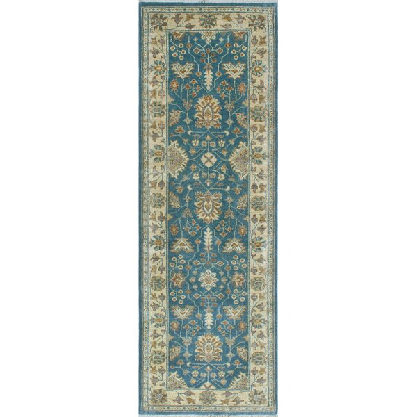 One-of-a-Kind Suzann Fine Chobi Hand-Knotted Blue/Beige Area Rug by Isabelline
