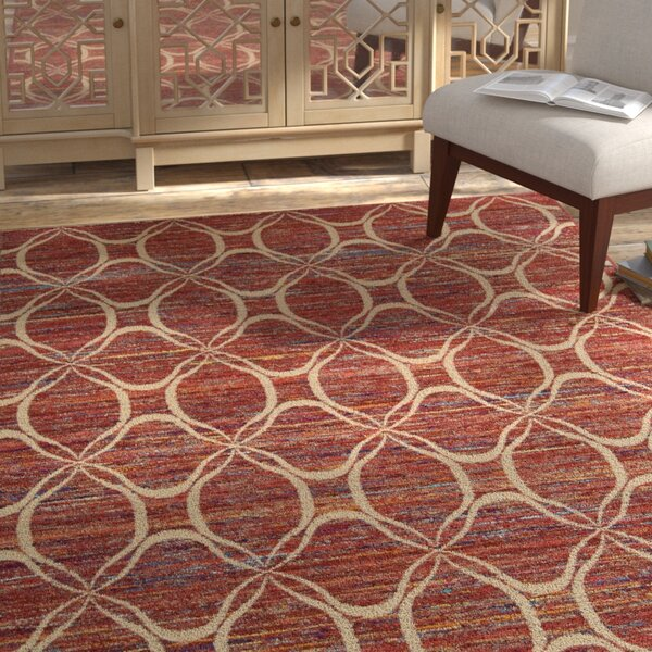 Pine Grove Hand-Woven Paprika Area Rug by Bloomsbury Market