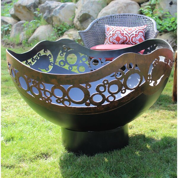 Modern Circles Steel Fire Pit by Cedar Creek Sculptures