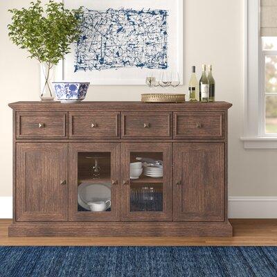 "Three Posts Derwent 70"" Wide 4 Drawer Acacia Wood Sideboard  Color: Rustic Java"