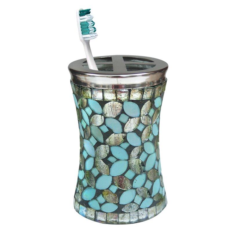 Aqua Glass nu steel Toothbrush Holder