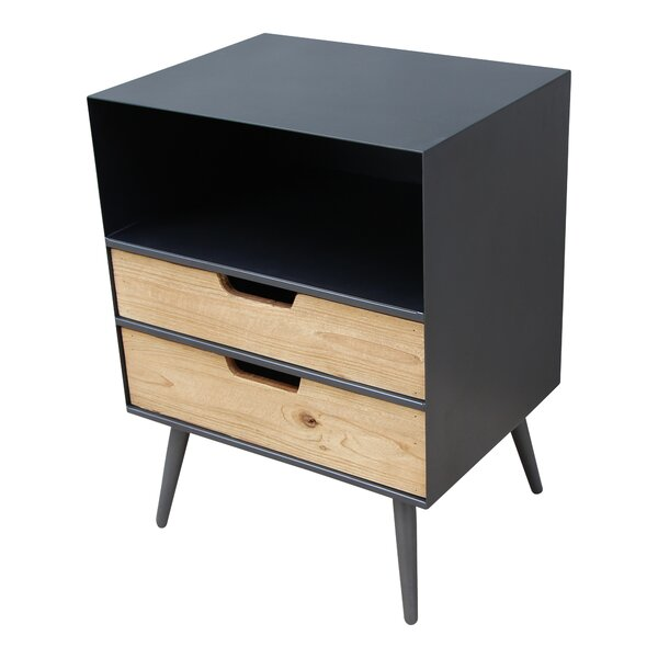 Isolda End Table with Storage by Wrought Studio
