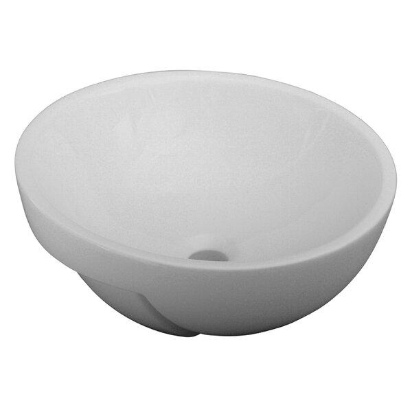 Luna Semi Recessed Circular Vessel Bathroom Sink