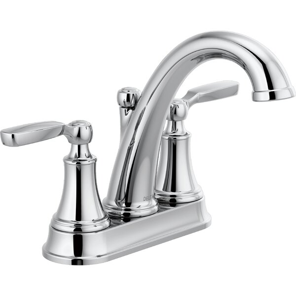 Woodhurst Centerset Bathroom Faucet with Drain Assembly by Delta