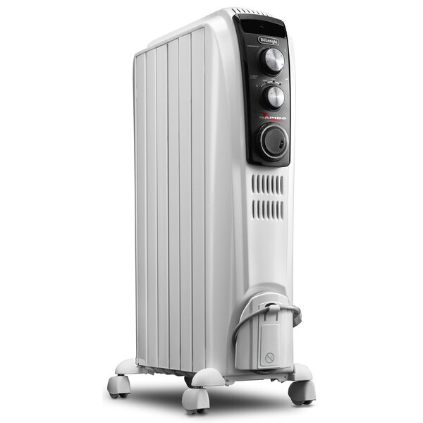 1,500 Watt Electric Radiant Radiator Heater With Mechanical Controls By DeLonghi