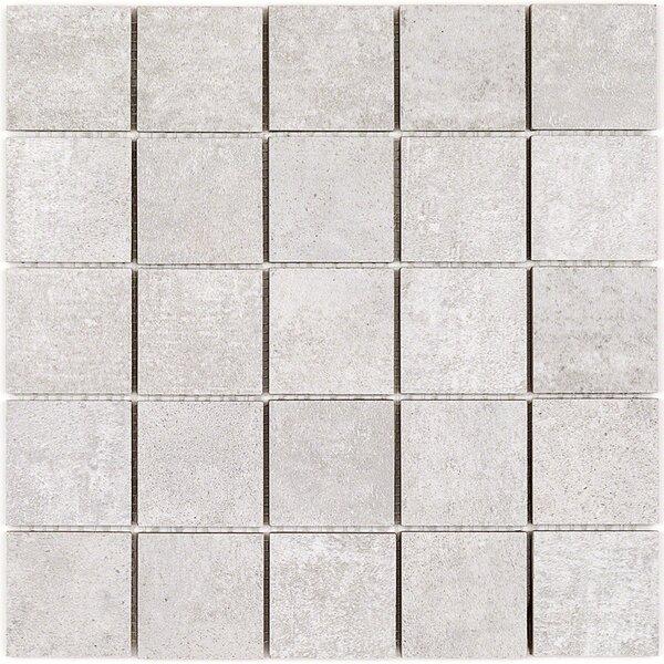 Malaga 2 x 2 Porcelain Mosaic Tile in Perla by Splashback Tile