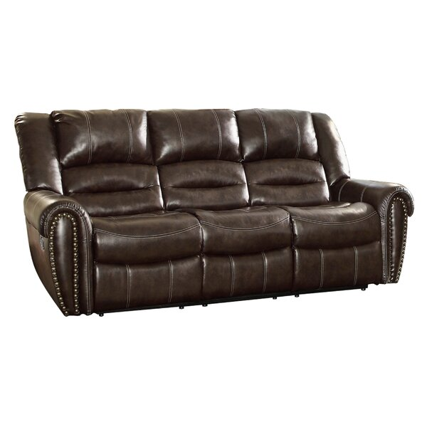 Medici Double Reclining 90 in. Round Arms Sofa by Astoria Grand Astoria Grand