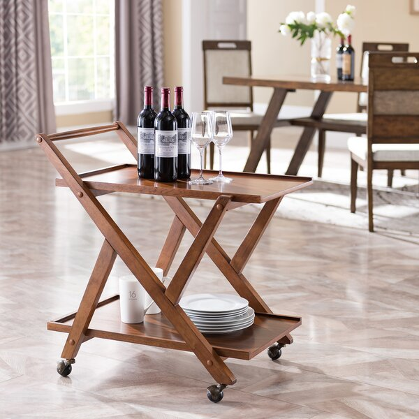 Andreas Bar Cart By Millwood Pines Cheap
