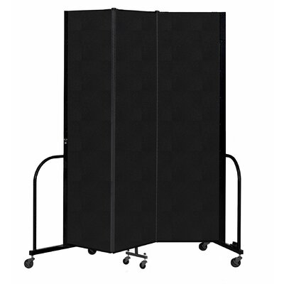 Freestanding 3 Panel Room Divider ScreenFlex Color: Coal, Height: 88""