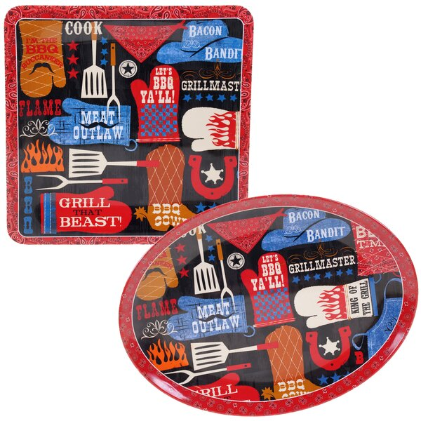 BBQ Bandit 2 Piece Melamine Platter Set by Certified International