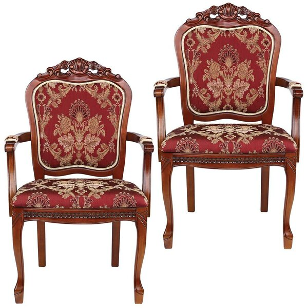Crown Armchair (Set of 2) by Design Toscano