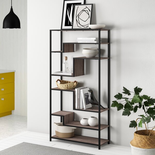 Blonde Geometric Bookcase by Zipcode Design Zipcode Design