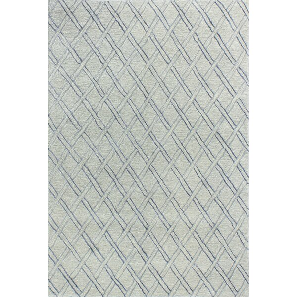 Jemarcus Hand-Tufted Silver Area Rug by Gracie Oaks