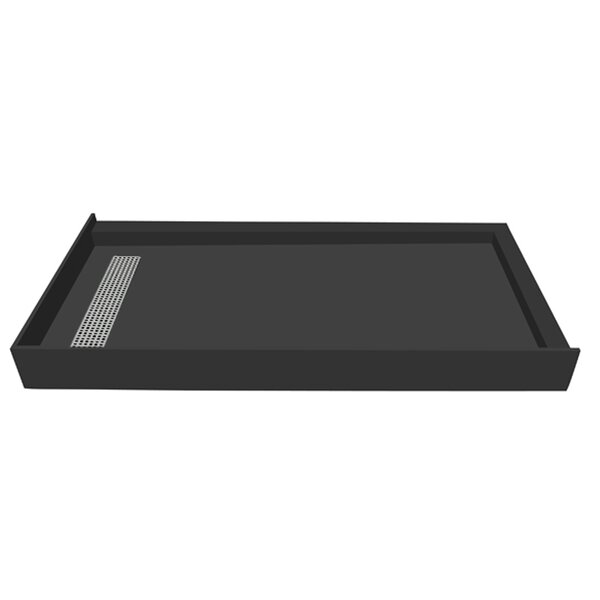 60 x 36 Double Threshold Shower Base with Drain Grate by Tile Redi