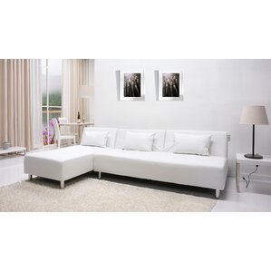 sc 1 st  Wayfair : leather sectional white - Sectionals, Sofas & Couches