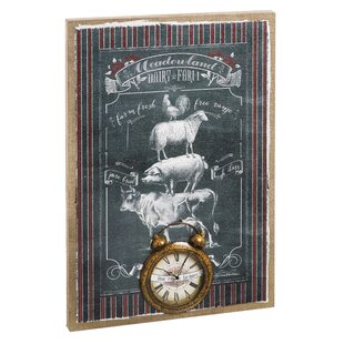 Searching for Farm Burlap Canvas Wall Clock by August Grove