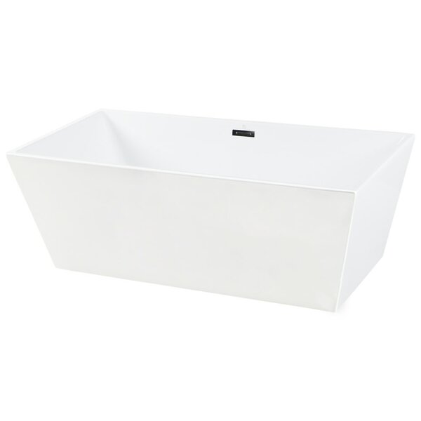 Aqua Eden Square Acrylic 67 x 32 Freestanding Soaking Tub by Kingston Brass