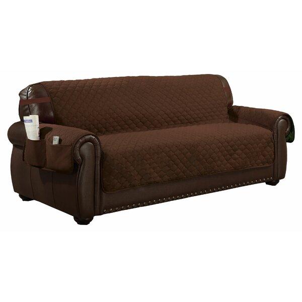 Review Printed T-Cushion Sofa Slipcover