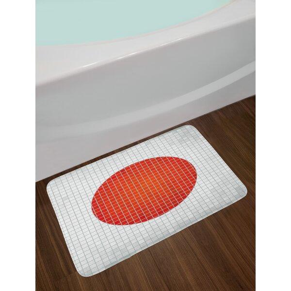 Mosaic Pale Abstract Bath Rug by East Urban Home