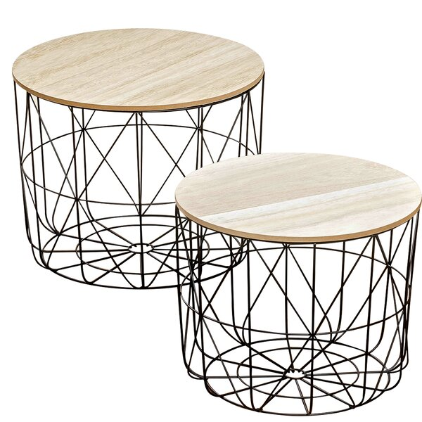 Blomkest 2 Piece Coffee Table Set by Wrought Studio