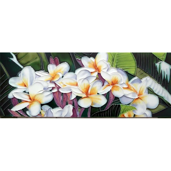 Plumeria Tile Wall Decor by Continental Art Center
