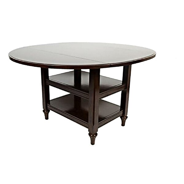 Chirokitia Drop Leaf Solid Wood Dining Table by Charlton Home Charlton Home