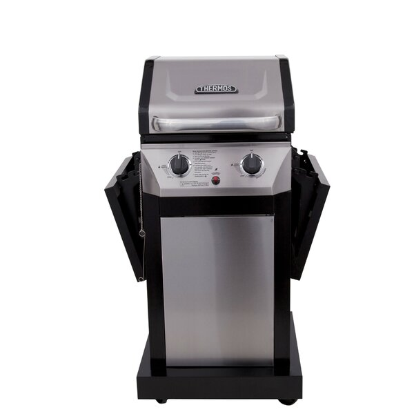 2-Burner Propane Gas Grill with Cabinet by Thermos