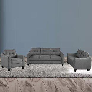 Ashaley 3 Piece Living Room Set by Red Barrel Studio®