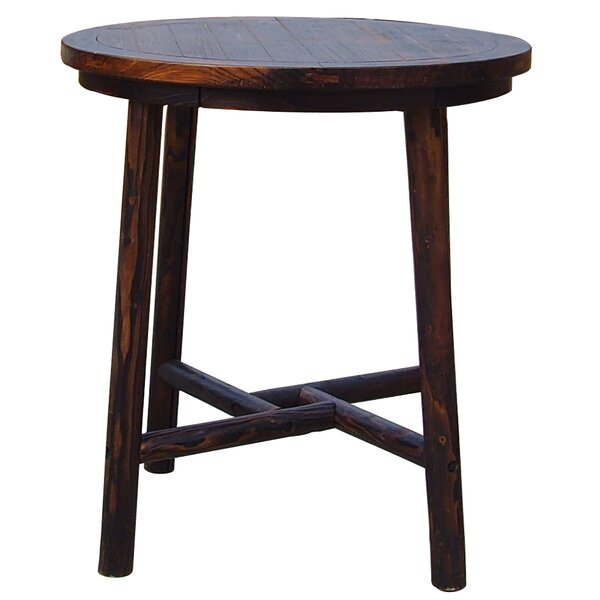Ardoin Wooden Bar Table by Loon Peak Loon Peak