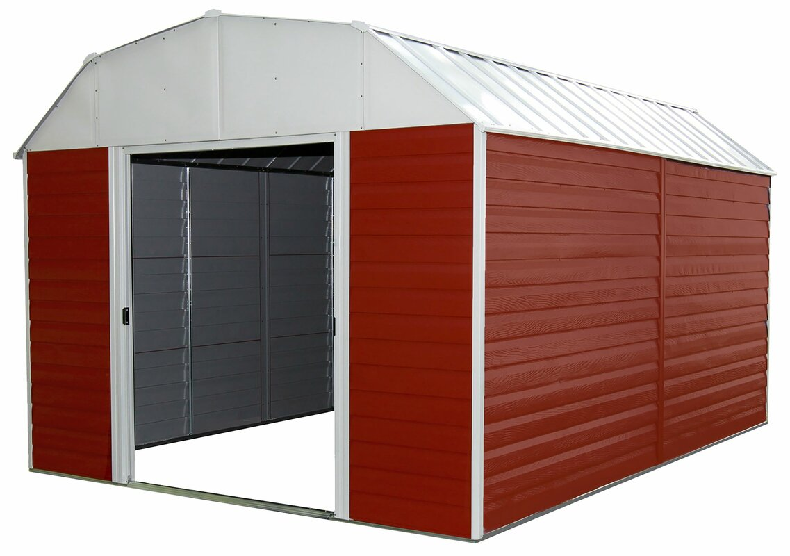 Arrow Barn 10 Ft W X 12 Ft D Metal Storage Shed