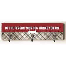 Person Your Dog Thinks Solid Wood Wall Mounted Coat Rack by Ebern Designs