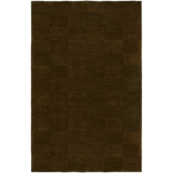 Chadha Hand-Woven Brown Area Rug by Meridian Rugmakers