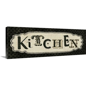 Room Signs III - Kitchen Graphic Art on Wrapped Canvas by Great Big Canvas
