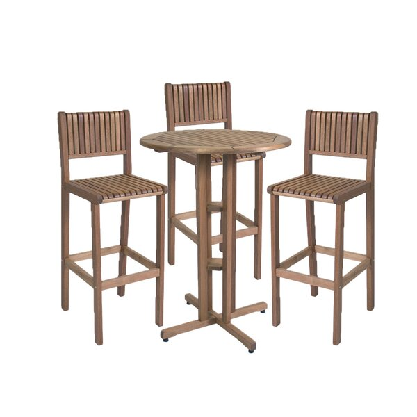 Zooey 4 Piece Bar Height Dining Set by Foundry Select
