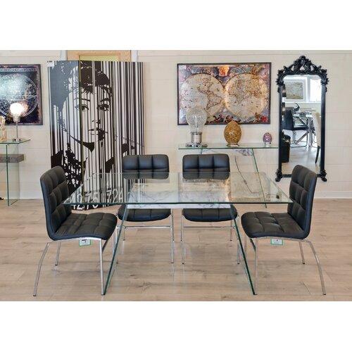 Essgruppe Eddington mit 4 Stühlen Metro Lane Stuhlfarbe: Bunt: Schwarz | Küche und Esszimmer > Stühle und Hocker | Metro Lane