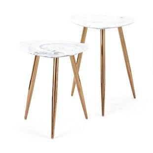 Presto 3 Piece Marble Tables (Set of 2) IMAX