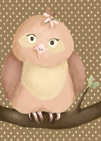 Olga the Owl Canvas Art by Oopsy Daisy
