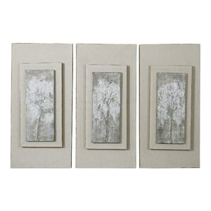 Triptych Trees 3 Piece Framed Painting Set by Darby Home Co