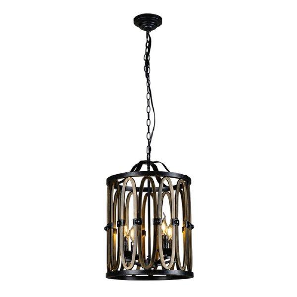 Icarus 4 - Light Lantern Geometric Chandelier By Gracie Oaks