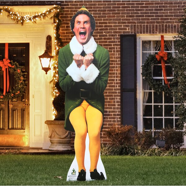 Elf Excited Yard Standee by The Holiday Aisle