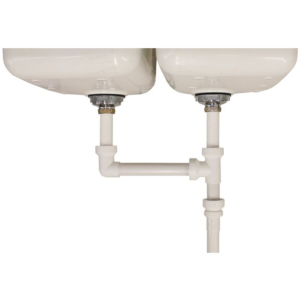 """Insta-Plumb™ Double Bowl Sink 16"""" End Outlet Waste for 1.5 for Kitchen by Keeney Manufacturing Company"""