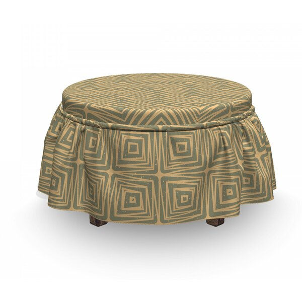 Urban Grunge Tile Ottoman Slipcover (Set Of 2) By East Urban Home