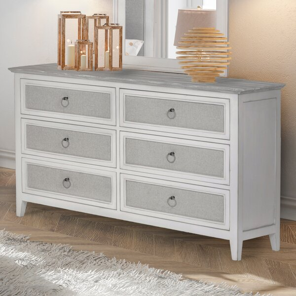 Juliet Island 6 Drawer Dresser with Mirror by Rosecliff Heights