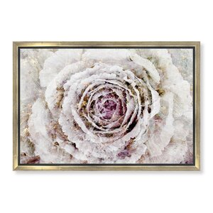 'Winter New York Flower' Framed Graphic Art Print on Canvas by Rosdorf Park