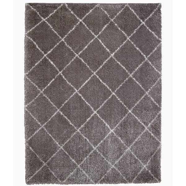 Abarca Gray/White Area Rug by Mercury Row