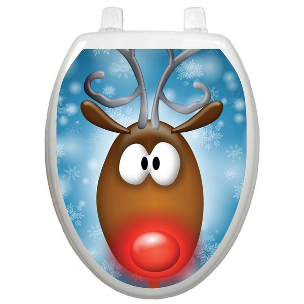 Holiday Reindeer Toilet Seat Decal by Toilet Tattoos
