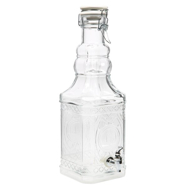 Bail and Trigger Square Bottle 68 oz. Beverage Dispenser by Home Essentials and Beyond