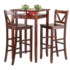 Halo 3 Piece Pub Table Set by Luxury Home
