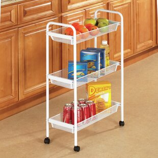 Gorman Deluxe 3 Tier Rolling Bar Cart