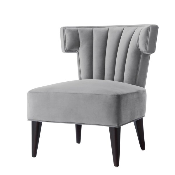 Sutton Velvet Wingback Chair by Nicole Miller Nicole Miller